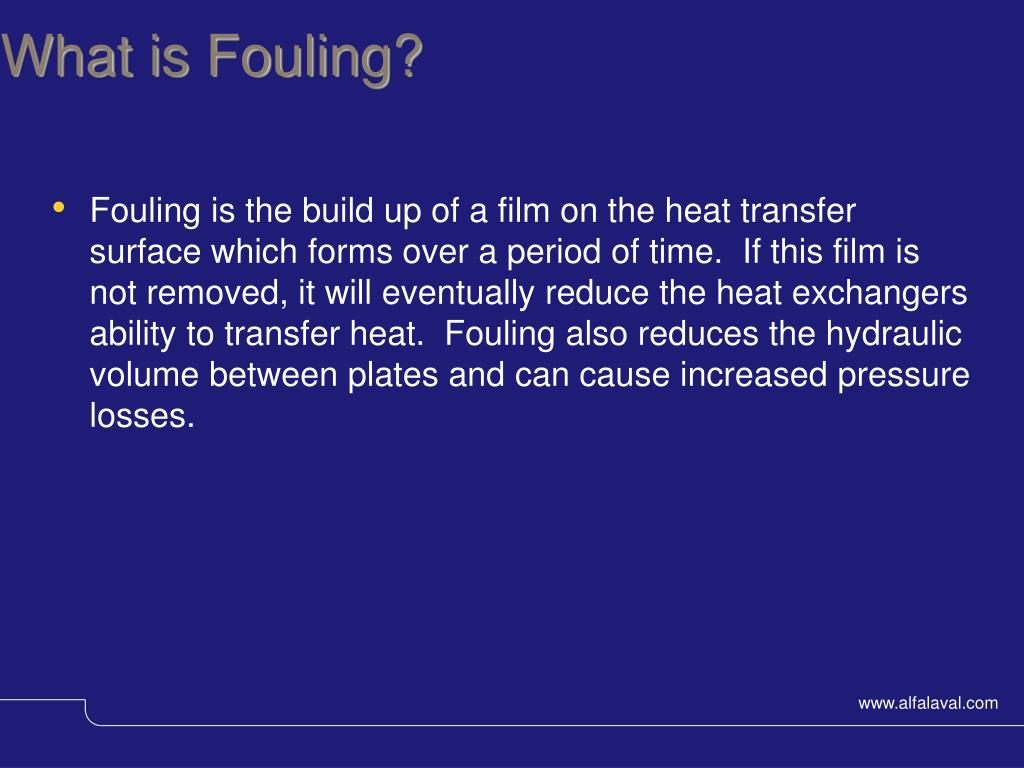 What is Fouling?