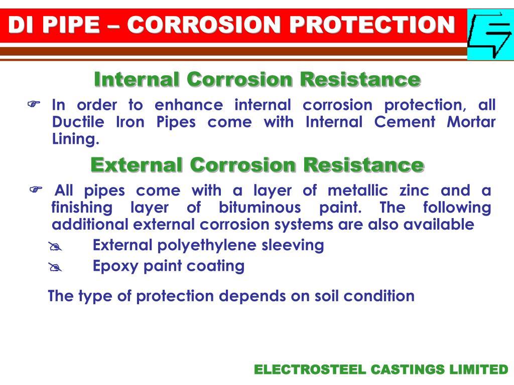 DI PIPE – CORROSION PROTECTION