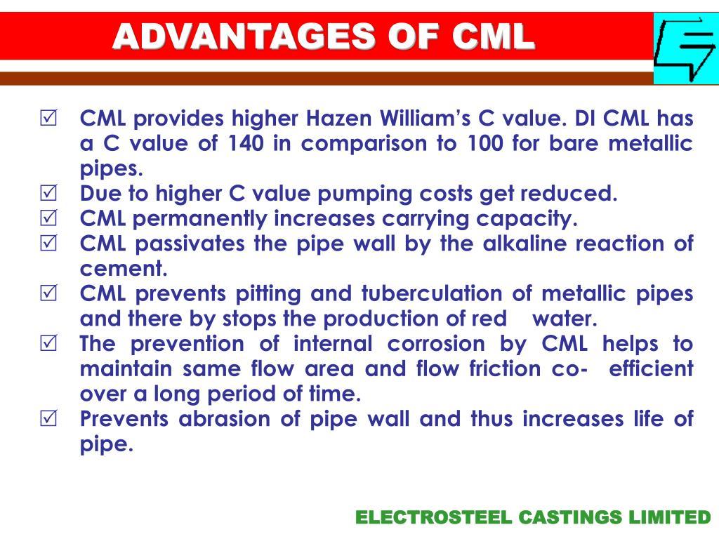 ADVANTAGES OF CML