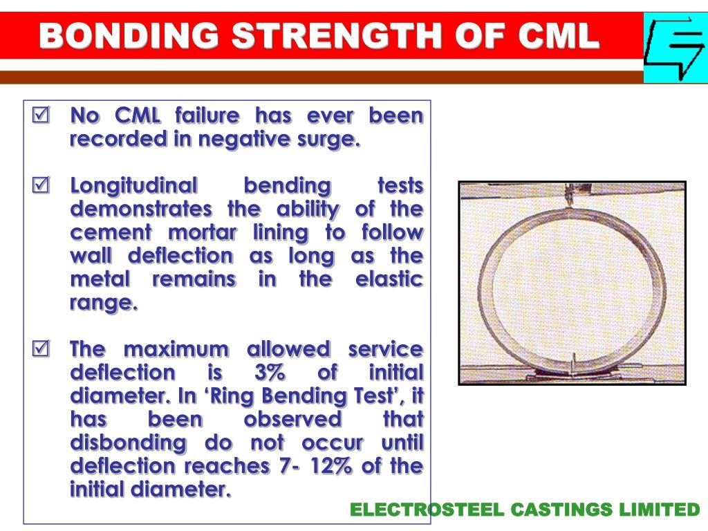 BONDING STRENGTH OF CML