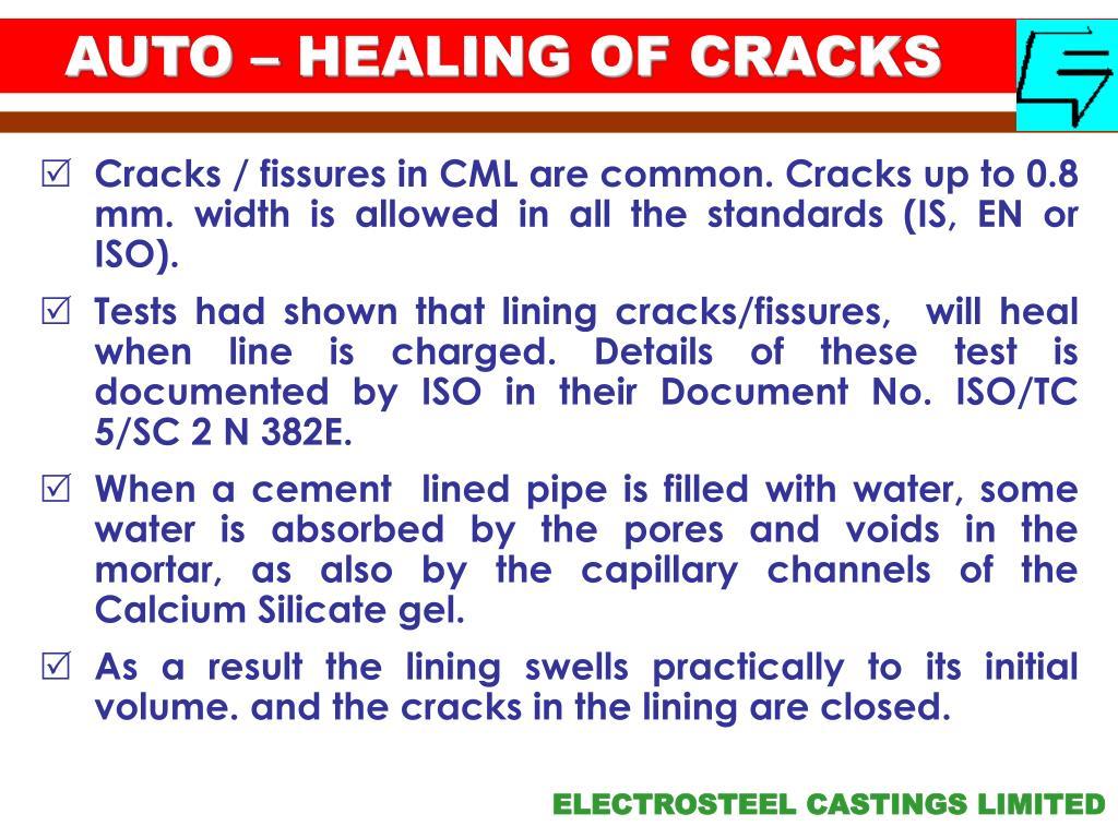 AUTO – HEALING OF CRACKS
