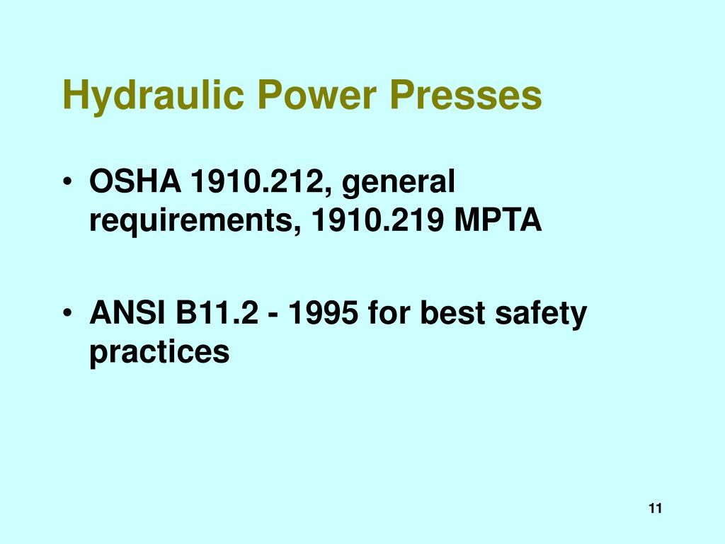 Hydraulic Power Presses