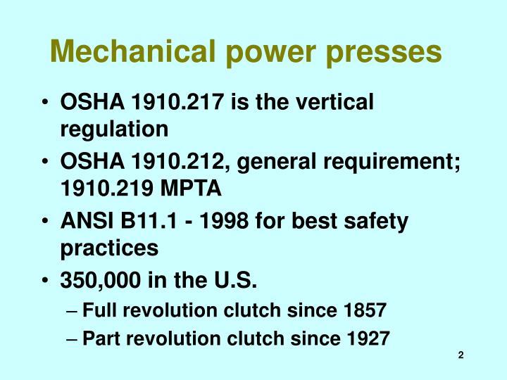Mechanical power presses2