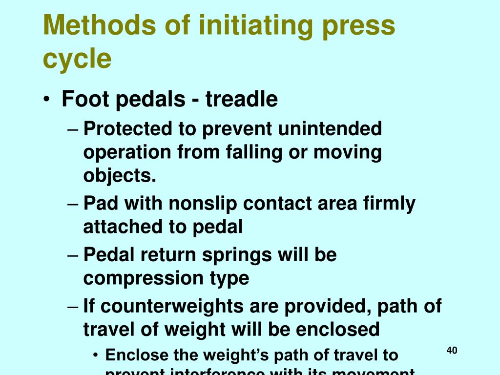 Methods of initiating press cycle