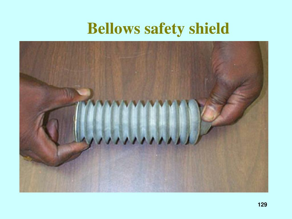 Bellows safety shield