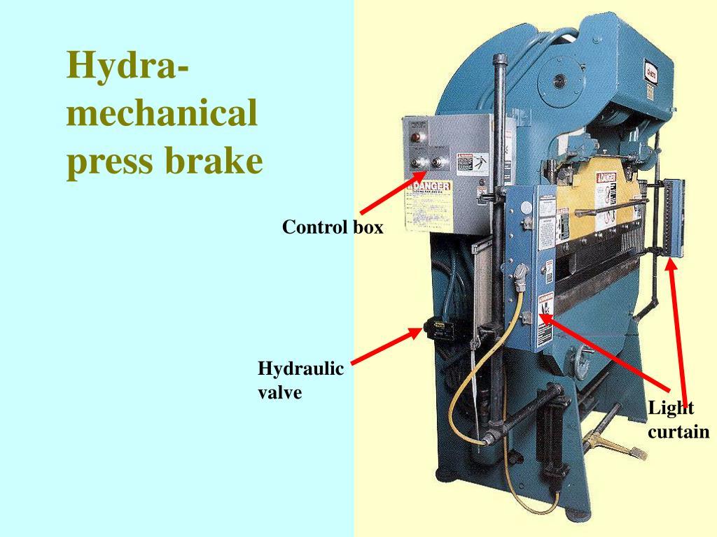 Hydra-mechanical press brake