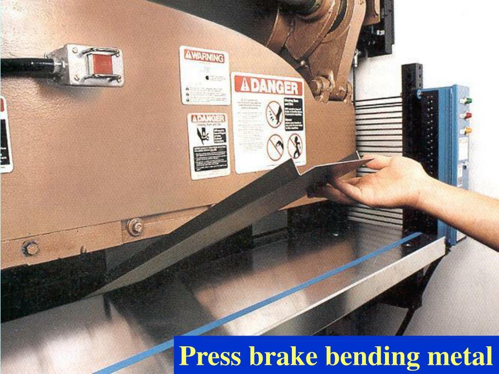 Press brake bending metal