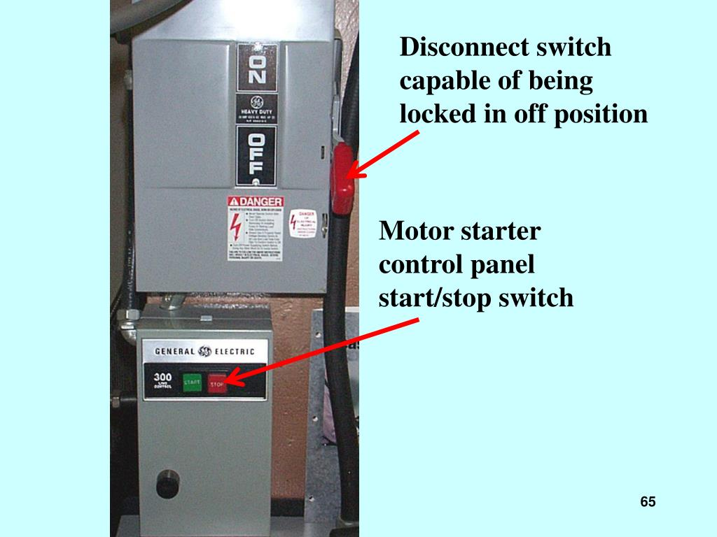 Disconnect switch capable of being locked in off position