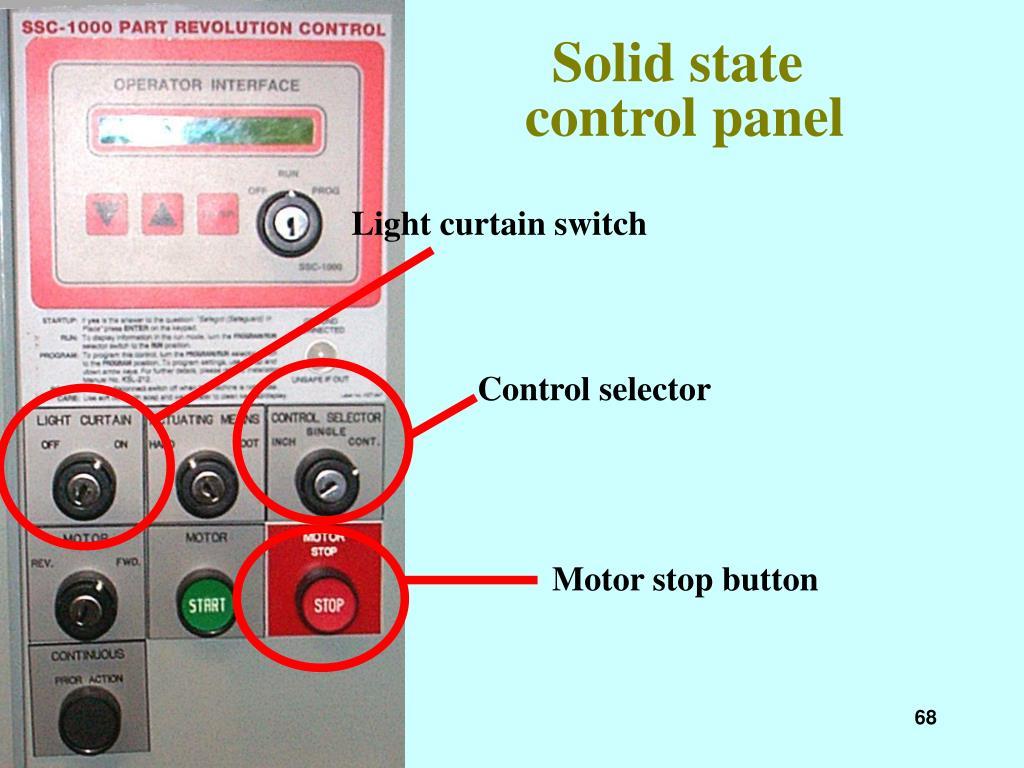 Light curtain switch