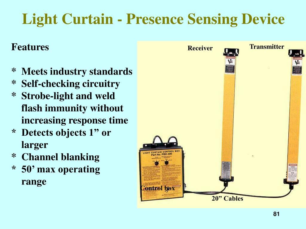 Light Curtain - Presence Sensing Device