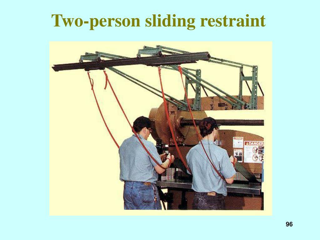 Two-person sliding restraint
