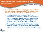 emerging psychosocial risks related to osh expert forecast3