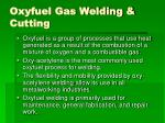 oxyfuel gas welding cutting