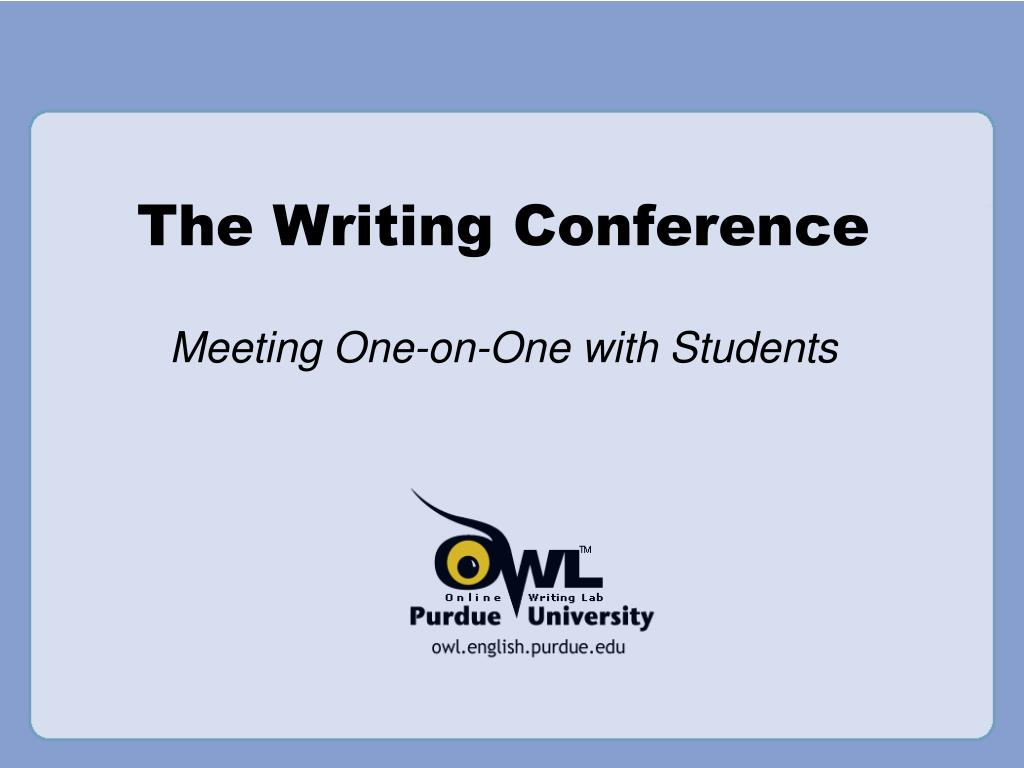 The Writing Conference