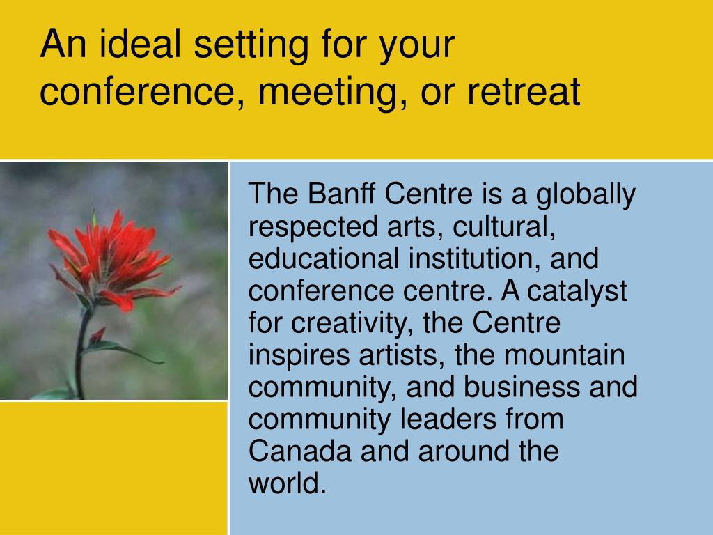An ideal setting for your conference, meeting, or retreat