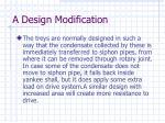 a design modification