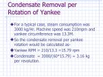 condensate removal per rotation of yankee50
