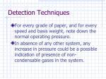detection techniques