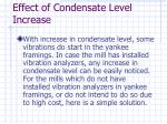 effect of condensate level increase53