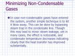 minimizing non condensable gases44
