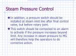 steam pressure control12