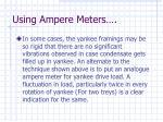 using ampere meters