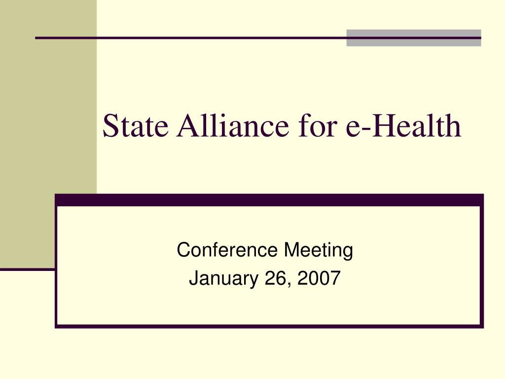 State Alliance for e-Health