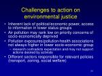 challenges to action on environmental justice