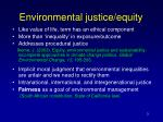 environmental justice equity