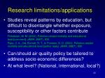 research limitations applications
