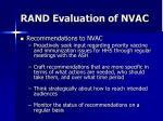 rand evaluation of nvac