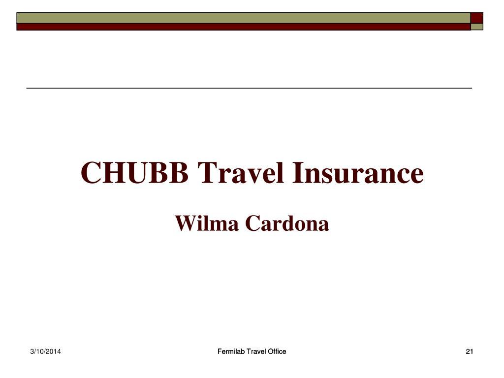 CHUBB Travel Insurance