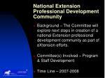 national extension professional development community