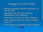 changes to ideia 2004