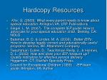 hardcopy resources