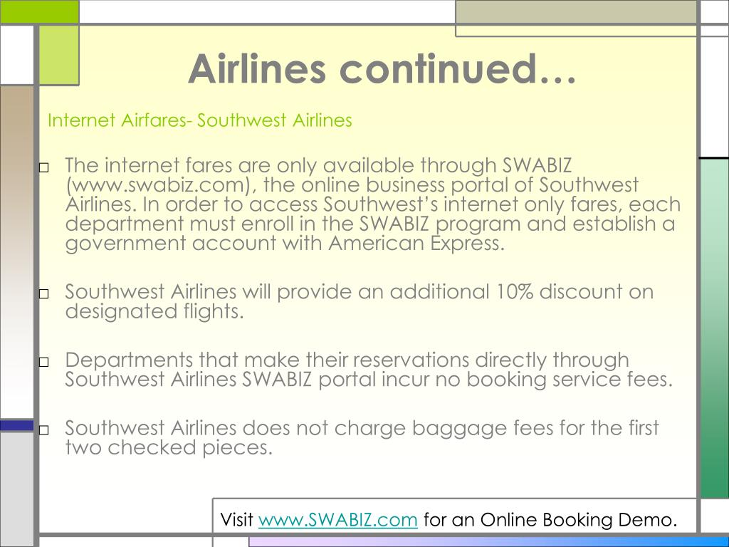Airlines continued…