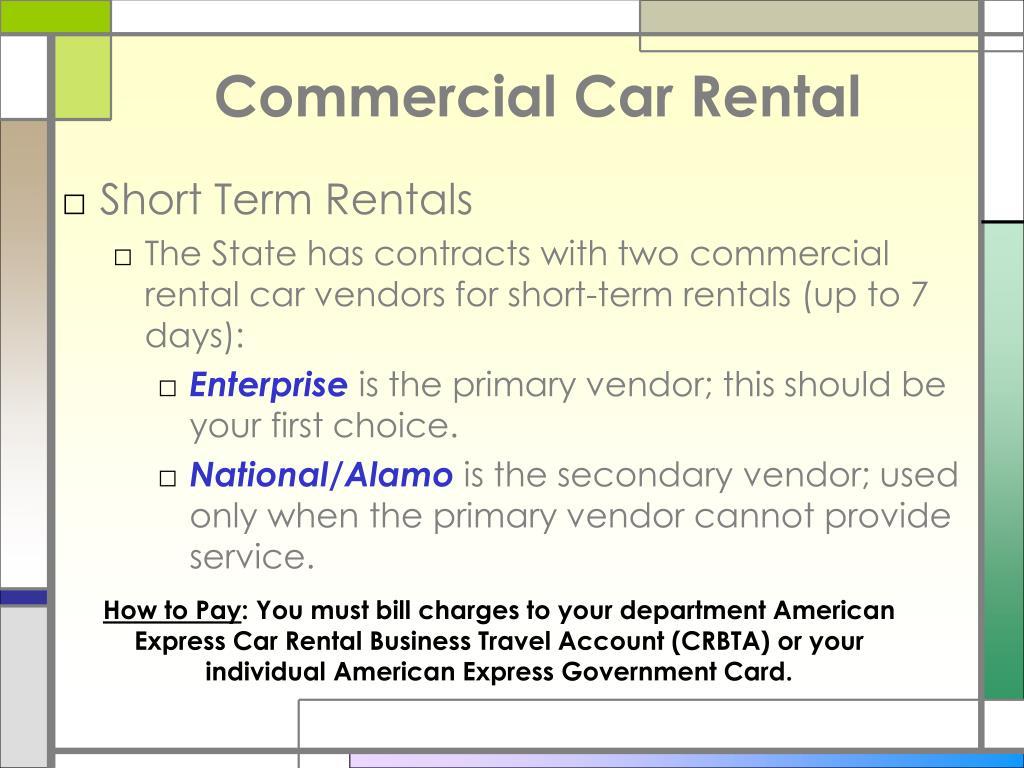 Commercial Car Rental