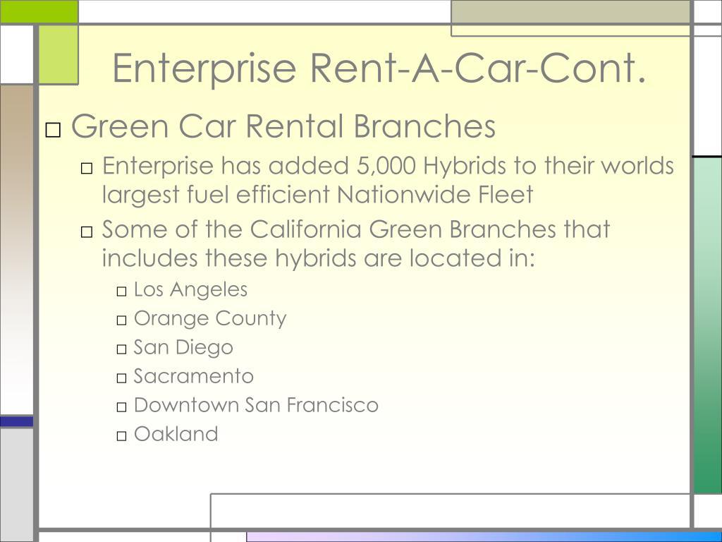 Enterprise Rent-A-Car-Cont.