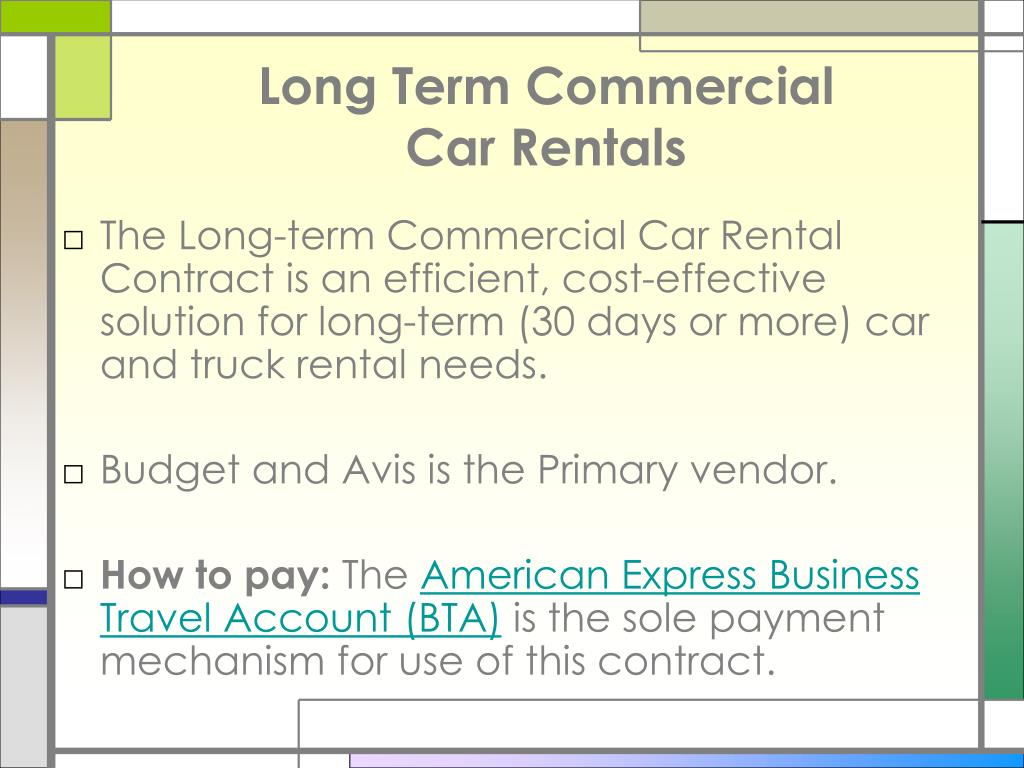 Long Term Commercial
