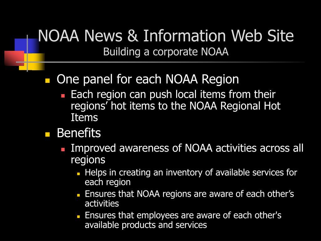 NOAA News & Information Web Site