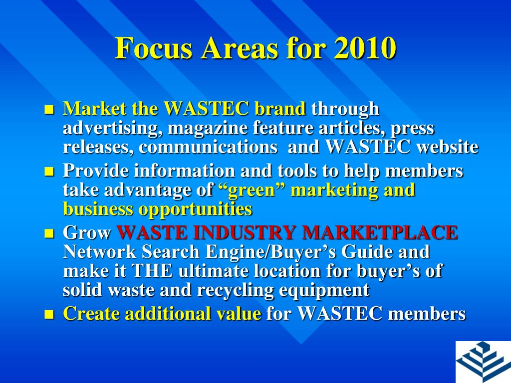 Focus Areas for 2010