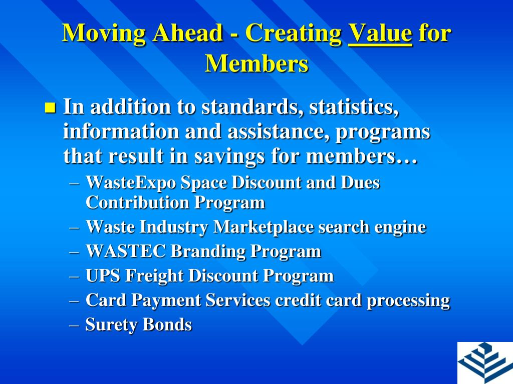 Moving Ahead - Creating