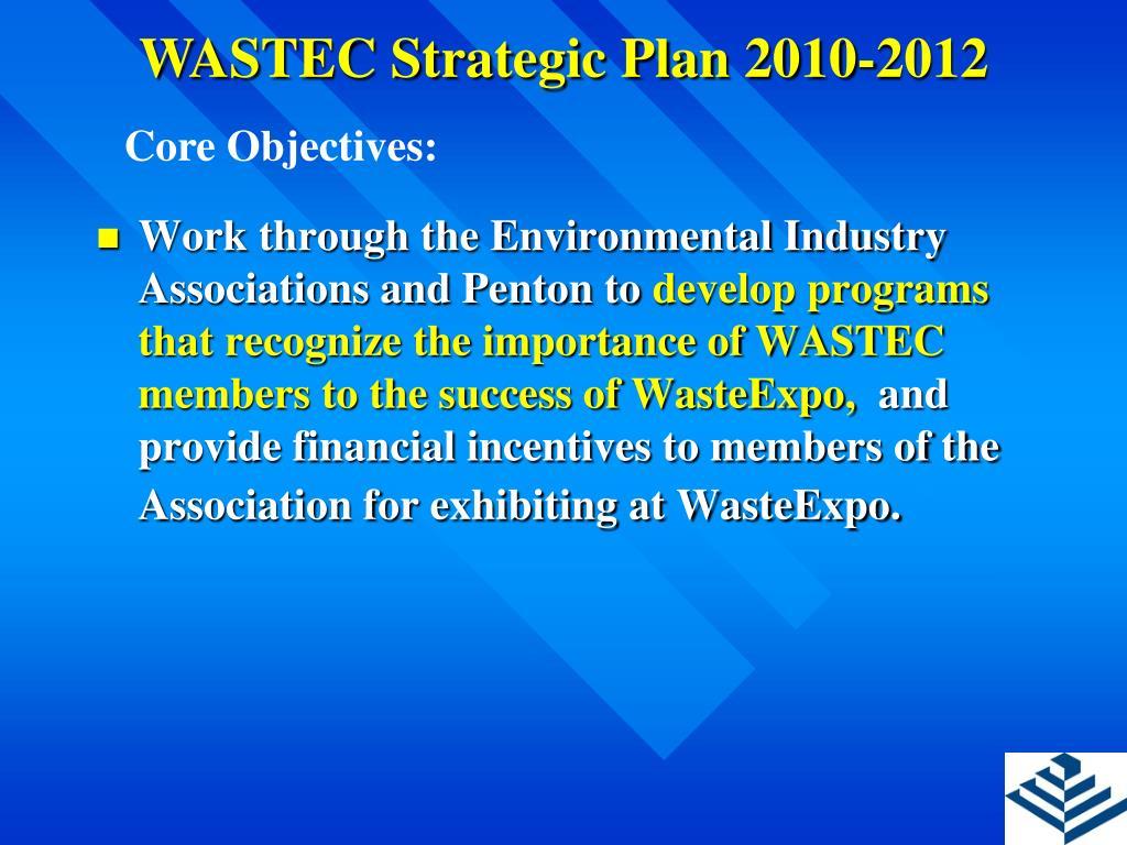 WASTEC Strategic Plan