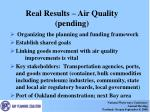 real results air quality pending