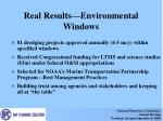 real results environmental windows