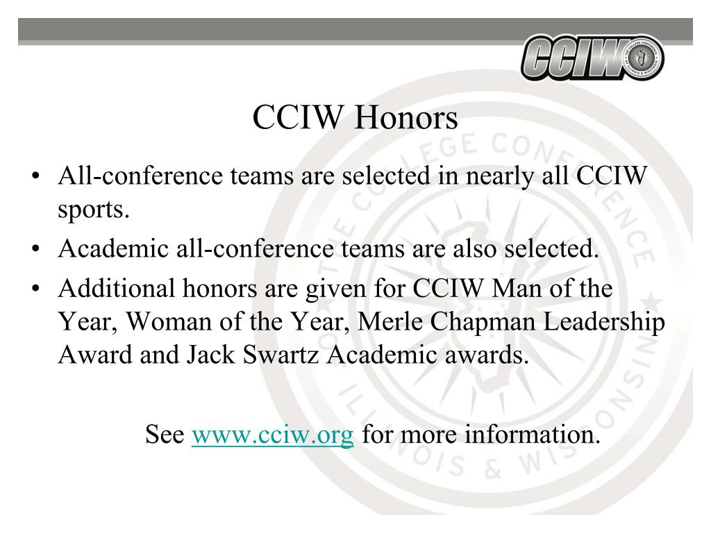 CCIW Honors