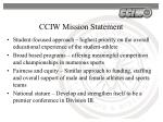 cciw mission statement