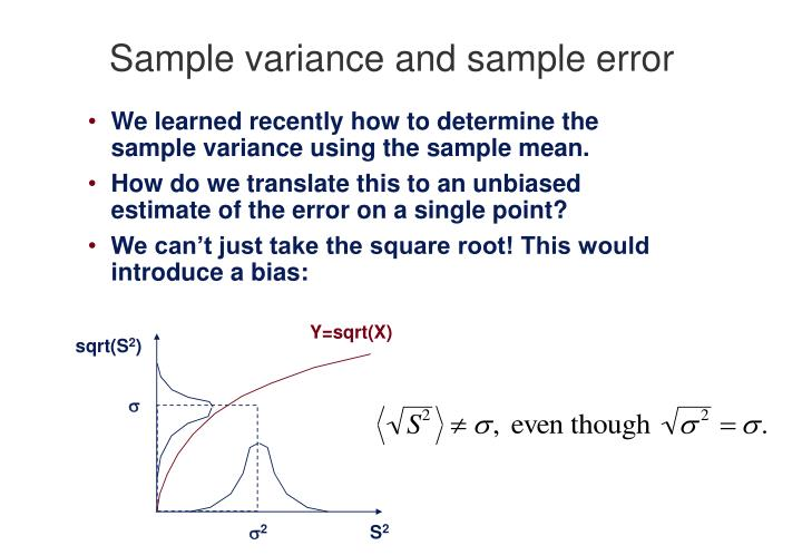 Ppt  Sample Variance And Sample Error Powerpoint Presentation  Id