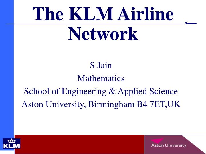 the klm airline network n.