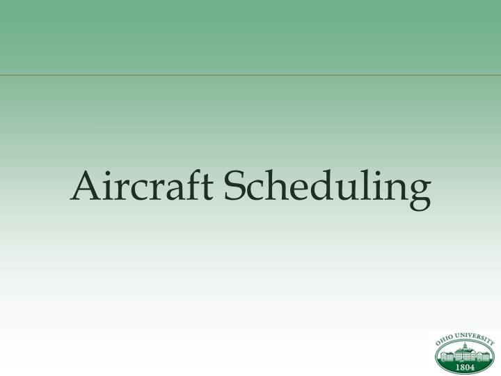 PPT - Airline Scheduling PowerPoint Presentation - ID:90693